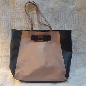 IVANKA TRUMP large handbag tote beige/black